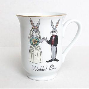 Vintage 1994 bugs bunny wedded bliss mug